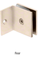 CRL SGC037SN Satin Nickel Fixed Panel Square Clamp With Small Leg