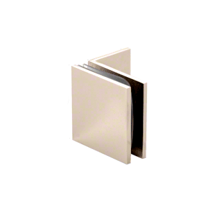 Satin Nickel Fixed Panel Square Clamp With Small Leg