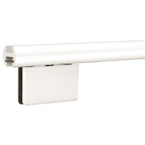 """CRL EHK98WEXT White 95"""" EZ-Adjust Shower Door Header Only"""