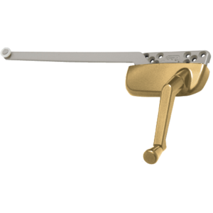 """Gold Right Hand Ellipse Style Casement Operator with 9-1/2"""" Single Arm"""