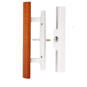 CRL C1316 White Sliding Glass Door Handle - Keyed