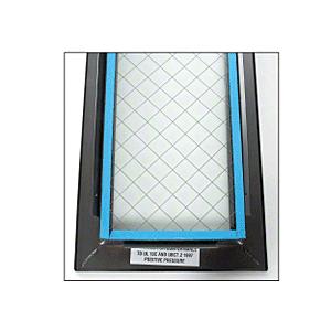 "CRL VLFEZ12X12WS 12"" x 12"" Door Vision Lite with Wire Glass"