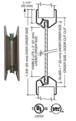 "CRL VLFEZ24X24WS 24"" x 24"" Door Vision Lite with Wire Glass"