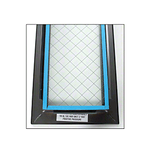 "6"" x 27"" Door Vision Lite with Wire Glass"