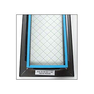 "CRL VLFEZ7X22WS 7"" x 22"" Door Vision Lite with Wire Glass"