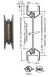 "CRL VLFEZ8X32WS 8"" x 32"" Door Vision Lite with Wire Glass"