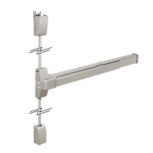 Aluminum DL770F Surface Vertical Rod Fire Exit Device