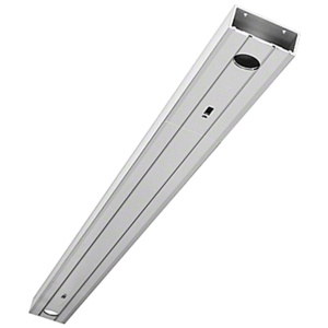 "Clear Anodized 72"" 1-3/4"" x 4"" 400 Series Prepped Header for Center Hung Overhead Concealed Closers"