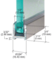 CRL DUC516BN Brushed Nickel Dry Glaze U-Channel With Vinyl