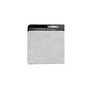 """Brushed Stainless Steel Z-Series Square Type Flat Base Zinc Clamp for 3/8"""" and 1/2"""" Glass with Repositionable Plate"""