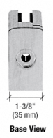 """CRL ZL910BS Brushed Stainless Steel Z-Series Square Type Flat Base Zinc Clamp for 3/8"""" and 1/2"""" Glass with Repositionable Plate"""