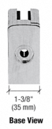 """CRL ZL710BS Brushed Stainless Steel Z-Series Square Type Radius Base Zinc Clamps for 3/8"""" and 1/2"""" Glass with Repositionable Plate"""