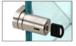 CRL UV6280BSKA Brushed Stainless UV Bond Tube Lock for Doors - Keyed Alike