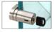 CRL UV6279BSKA Brushed Stainless UV Bond Tube Lock for Single Overlay Door - Keyed Alike