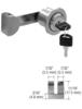 CRL UV4101BSKA Brushed Stainless UV Lock for Single Inset or Overlay Glass Doors - Keyed Alike