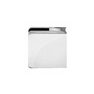 """Chrome Z-Series Square Type Radius Base Zinc Clamps for 3/8"""" and 1/2"""" Glass with Repositionable Plate"""
