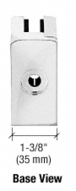 """CRL ZL610CH Chrome Z-Series Square Type Radius Base Zinc Clamps for 3/8"""" and 1/2"""" Glass with Repositionable Plate"""