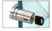 CRL UV6278BSKA Brushed Stainless UV Bond Tube Lock for Single Inset Door - Keyed Alike