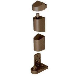 CRL 0P34RHDU Dark Bronze Offset Right Hand Pivot Set Flush with Frame Face