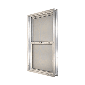 "CRL BAP268 Satin Anodized 20-3/4"" x 30-1/8"" Bel-Air ""Plaza"" Combination Door Unit with Clear Tempered Glass and Mill Frame for 1-3/8"" 2-6 Slab Door"