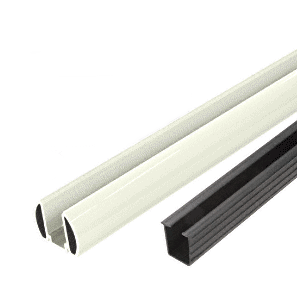 "CRL BR36K0W Oyster White AWS 36"" Bottom Rail Kit with Rigid Glazing Vinyl"