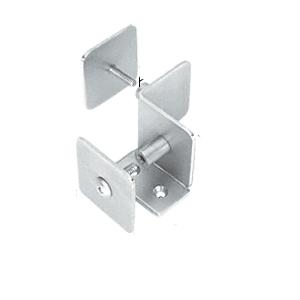 CRL PB005SC Satin Chrome Bullet Resistant Protective Barrier System 90 Degree Bottom Mount Inside Clamp