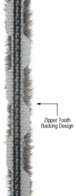 "CRL Z78273C Zipper Pile Weatherstrip .270"" Backing - .200"" Pile Height - 100' Roll"
