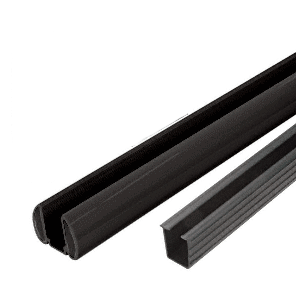 "Black AWS 36"" Bottom Rail Kit With Rigid Glazing Vinyl"