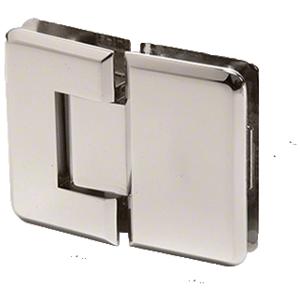 Polished Nickel Pinnacle 180 Series 180 Degree Glass-to-Glass Standard Hinge