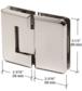 CRL P1N180PN Polished Nickel Pinnacle 180 Series 180 Degree Glass-to-Glass Standard Hinge