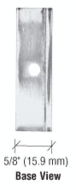 """CRL EH10 Chrome Face Plate Clamp for 1/4"""" to 5/16"""" Glass"""