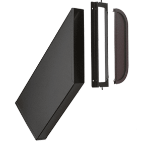 Dark Bronze Finish Video/DVD Drop Chute, Bracket and Mail Slot