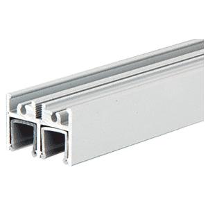 Satin Anodized Aluminum Upper Track for Clover Showcase