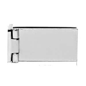 CRL EH84 Polished Chrome Light Duty Frameless Shower Door Hinge - Square Corner Style