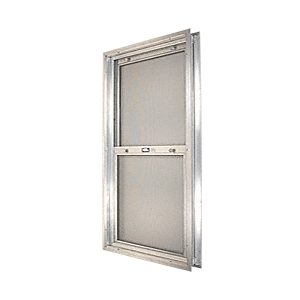 "CRL BAP208 Satin Anodized 14-3/4"" x 30-1/8"" Bel-Air ""Plaza"" Combination Door Unit with Clear Tempered Glass and Mill Frame for 1-3/8"" 2-0 Slab Door"