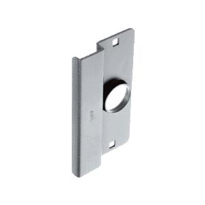 "CRL 8852AL Aluminum Finish 6-1/2"" Heavy Gauge Steel Latch Guard for Narrow Stile Flush Doors"