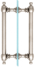 """CRL C0L8X8PN Polished Nickel 8"""" Colonial Style Back-to-Back Pull Handles"""