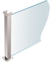 """CRL PP44EPS Polished Stainless 18"""" High 1-1/2"""" Square PP44 Plaza Series Counter/Partition End Post"""