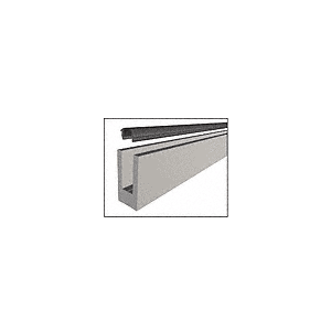 "CRL W5B10D Mill Aluminum 120"" Small Profile Windscreen Base Shoe for 3/8"" or 1/2"" Glass - With Drilled Holes"