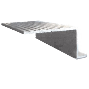 "CRL 742SAL Mill Aluminum 74"" x 2-3/8"" Retractable Screen Door In-Sill adaptor"