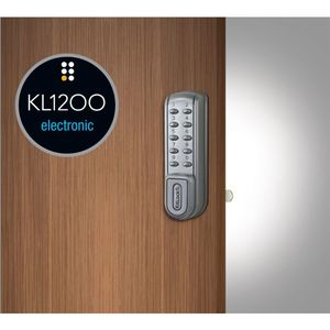 Codelock KL1200 Electronic Vertical KitLock Keypad Locker Lock Silver Gray Finish