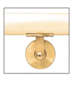 CRL HR2SWPB Polished Brass Manhattan Series Wall Mounted Hand Rail Bracket