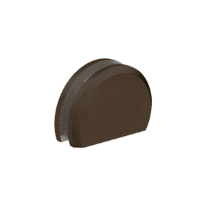 """CRL CABR65DU Dark Bronze 180 with Rounded Style Clamp - 65"""""""