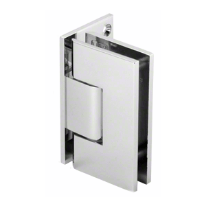 Polished Chrome Vienna Offset Wall Mount Plate Adjustable Hinge