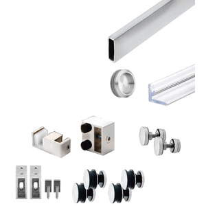 CRL SER78PS Polished Stainless Steel Deluxe 180 Degree Serenity Series Sliding System