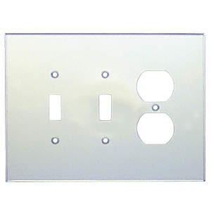 CRL PMP304 Clear Duplex Double Toggle Combo Acrylic Mirror Plate