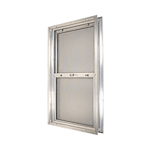 "CRL BAP284 Satin Anodized 22-3/4"" x 30-1/8"" Bel-Air ""Plaza"" Combination Door Unit with Clear Tempered Glass and Mill Frame for 1-3/4"" 2-8 Slab Door"
