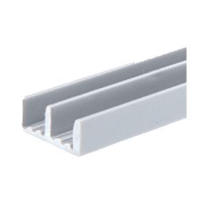 """CRL D706GRY Gray Plastic Lower Track for 3/16"""" Sliding Panels"""