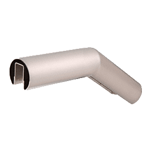 "CRL GR15U35BS Brushed Stainless 35 Degree Upper Incline Corner for 1-1/2"" Diameter Railing"