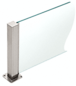 """CRL PP43TBS Brushed Stainless 12"""" High 1-1/2"""" Square PP43 Plaza Series Counter/Partition 3-Way Post"""